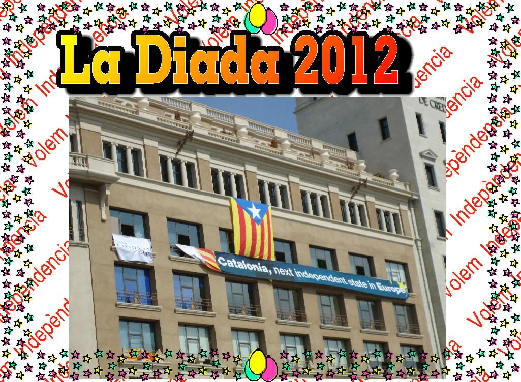 La diada 2012 Plaça Catalunya